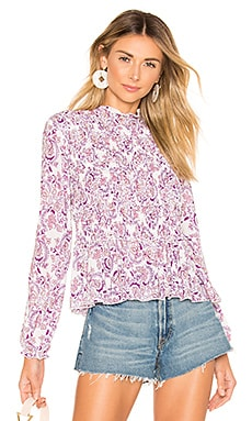 Smocked Printed Blouse See By Chloe $182