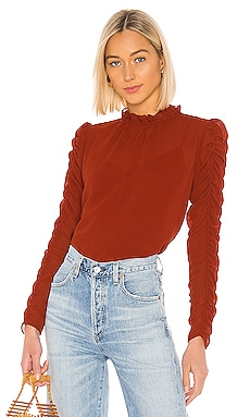 Ruched Long Sleeve Blouse See By Chloe $225