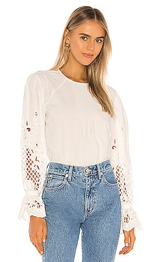 Embroidered Cotton Poplin Long Sleeve Blouse See By Chloe $415 Collections