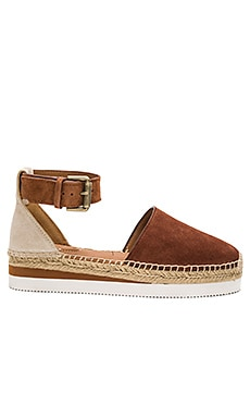 Ankle Strap Espadrille in Suola Tan