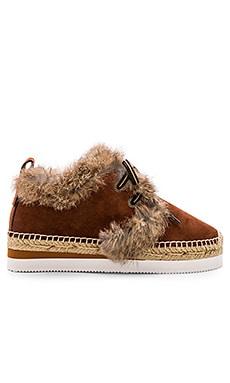Glyn Rabbit Fur Sneaker See By Chloe $200