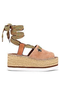 Glyn Wrap Platform Sandal See By Chloe $165