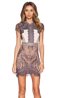 self-portrait Lace Sequence Dress in Multi
