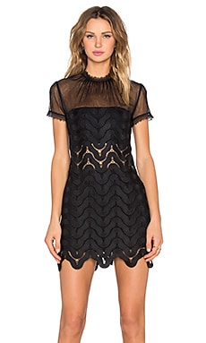 self-portrait Evie Shift Dress in Black