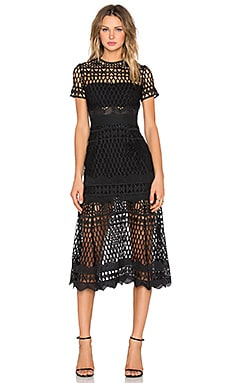 Cut Out Lace Layered Dress