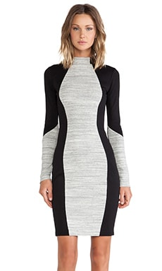 sen Muriel Dress in Heather Grey Stripe & Black
