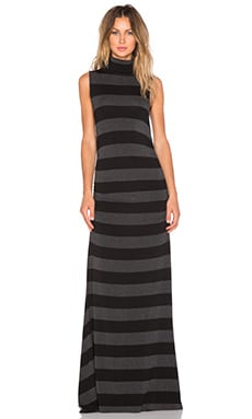 sen Gareth Dress in Black & Antracita Stripe