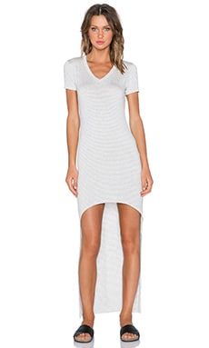 sen Helena Dress in Heather Grey Stripe