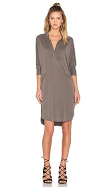 Baja Shirt Dress in Olive