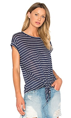 Lindell Tee in Navy & White