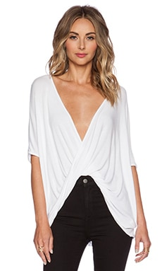 Teagan Shortsleeve Top en Blanc