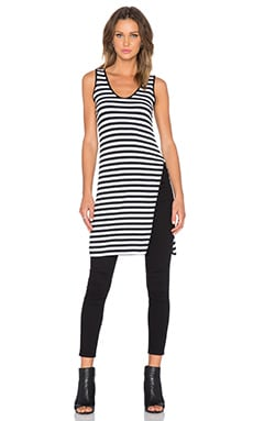 sen Lauren Top in Black & White Stripe