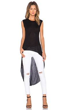 sen Stasha Side Slit Tank in Black