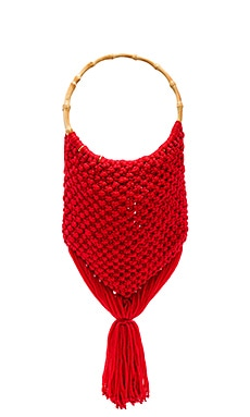 Macrame Bag with Bamboo Handle SENSI STUDIO $174