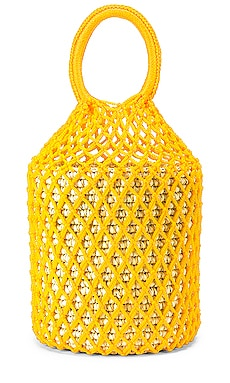 Straw Netted Bucket Bag SENSI STUDIO $52 (FINAL SALE)