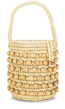 Wood Beaded Mini Bucket Bag SENSI STUDIO $234