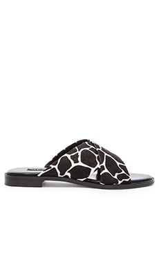 SENSO Georgia II Cow Hair Sandal in Ebony