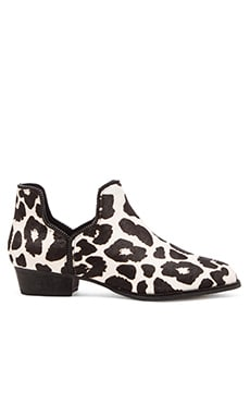 SENSO Blake X Cow Hair Bootie in Chalk