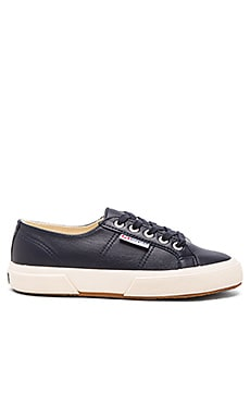 Superga Nappa Sneaker in Navy