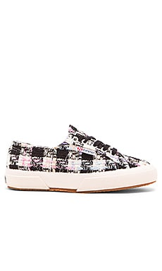 Superga Boucle Multi Check Sneaker in Pink Multi