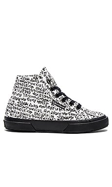 Superga x Domingo 2095 COTFANU Zapata Hi Top Sneaker in Grafitti Black & White