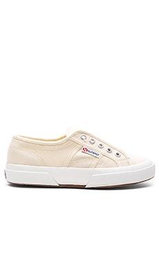 Superga 2750 Cotu Slip-On Sneaker in Ivory & Gold