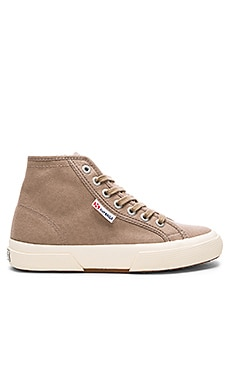 Superga 2095 Cotu High Top Sneaker in Mushroom