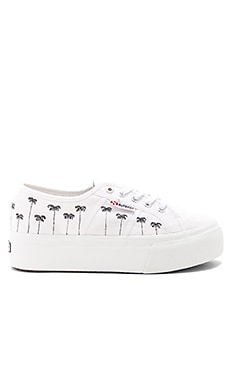 2790 Palm Tree Sneaker in White