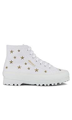 2341 ALPINA EMBCOTTONW Sneaker Superga $89 NEW