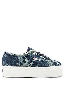 Superga Slip On Sneaker in Indigo