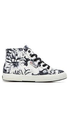Superga Annabella Hi-Top Sneaker in Black & White
