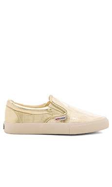 Superga Slip On Sneaker in Gold