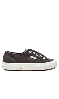 Superga Cotu Slip On Sneaker in Dark Grey Iron