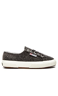 Superga Wool Sneaker in Dark Charcoal
