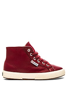 Nappa Hi Top Sneaker in Red