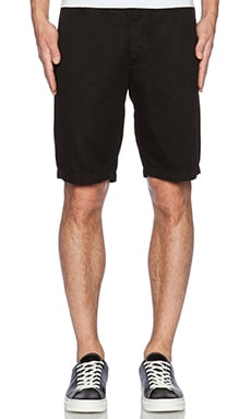 7 For All Mankind Cotten Linen Chino Short in Onyx