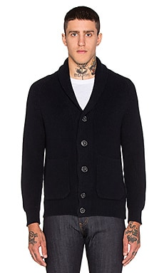 7 For All Mankind Shawl Cardigan in Dark Navy