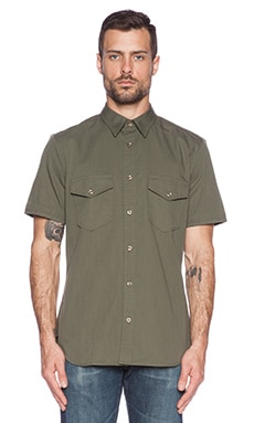 7 For All Mankind Patch Pocket Shirt in Fatigue
