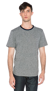 7 For All Mankind Ringer Tee in Granite