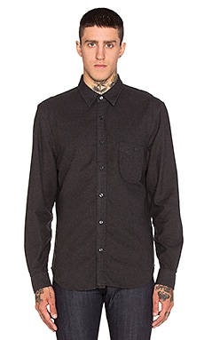 7 For All Mankind One Pocket Flannel in Heather Charcoal