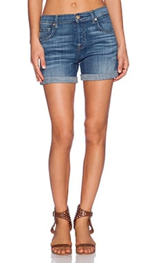 7 For All Mankind Relaxed Short in Medium Broken Twill