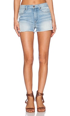 7 For All Mankind High Waisted Short in Light Sky 2