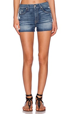 7 For All Mankind HW Cut Off Shorts in True Heritage Blue