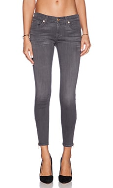 7 For All Mankind The Skinny in Grey Sateen