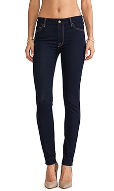 7 For All Mankind High Waisted Skinny in Rinsed Indigo