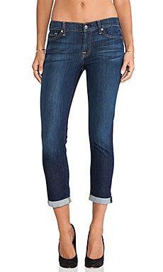 7 For All Mankind Skinny Crop & Roll in Nouveau New York Dark