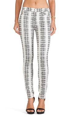 7 For All Mankind The HW Skinny with Contour in Houndstooth Plaid