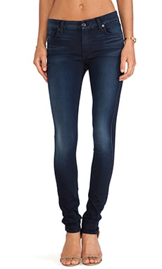 7 For All Mankind The Skinny with Contour in Slim Illusion Second Skin Washed Dark