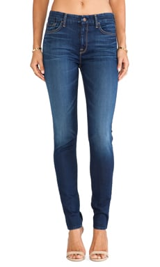7 For All Mankind The Hight Waisted Skinny in Slim Illusion Geneva Blue