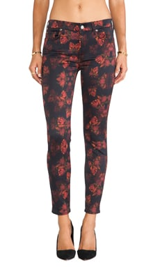 7 For All Mankind The Skinny w/ Contour in Rouge Roses Print